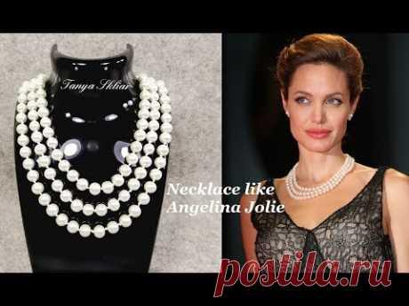 Колье из Бусин как у Анджелины Джоли МК/ Necklace of beads like Angelina Jolie!