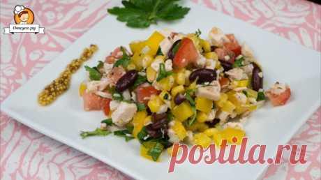 Салат с курицей без майонеза - Простые рецепты Овкусе.ру