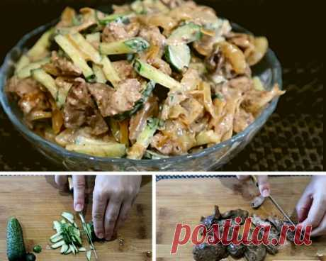 Простой печеночный салат из 3 ингредиентов. Муж куриную печень не любит, а салат этот уплетает за обе щеки