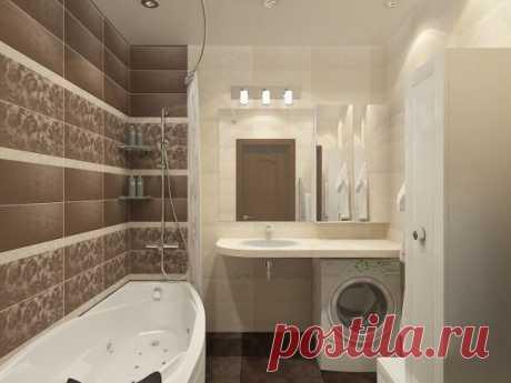 Дизайн плитки для маленькой ванной комнаты - фото