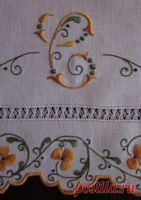 Элизабет Ручная вышивка: Торговля и салфетки