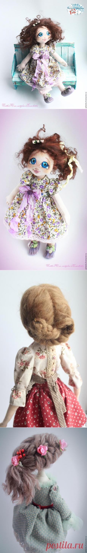«Сиреневое счастье»: текстильная куколка — от выкройки до наряда. Часть 2 - Ярмарка Мастеров - ручная работа, handmade