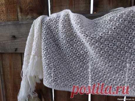 Палантин шетландским узором | Вязание спицами аксессуаров мое вязание