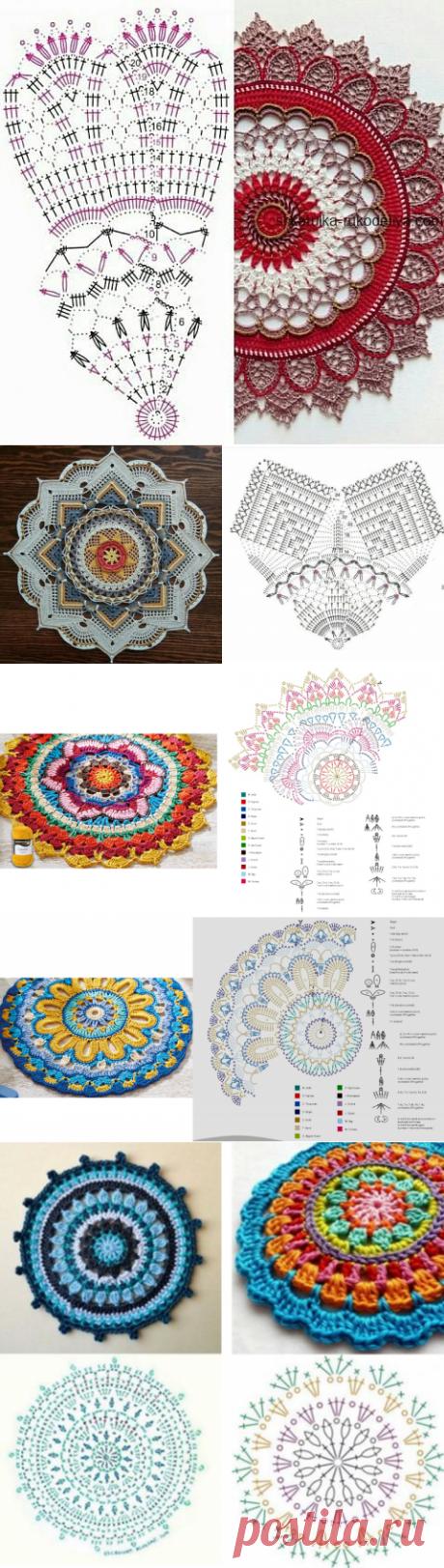 Мандала - не бабушкин, но все же бабушкин квадрат - супер схемы с образцами - часть 2 | МНЕ ИНТЕРЕСНО | Яндекс Дзен