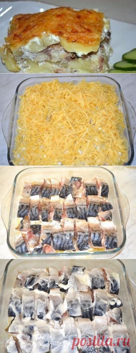 Как приготовить картофельная запеканка со скумбрией  - рецепт, ингредиенты и фотографии