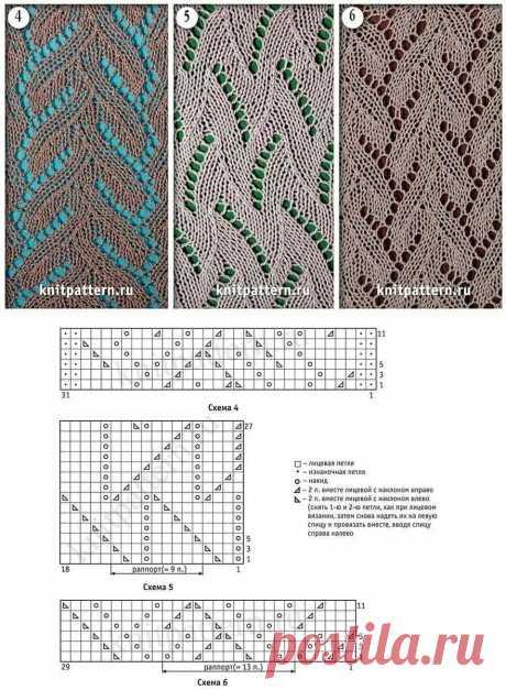 Замечательные узоры для шарфов, палантинов и не только   Вяжем Тут