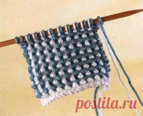 «Тканая» рисовая вязка (УЗОРЫ СПИЦАМИ) | Журнал Вдохновение Рукодельницы