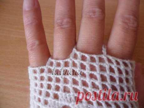 Ажурные перчатки, шаг за шагом