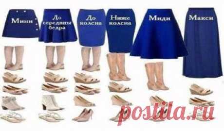 Основные правила выбора обуви под юбки разной длины Каждый день, создавая определенный образ,мы тщательно подбираем одежду и обувь. Юбка – самый женственный предмет одежды.С её помощью можно добавить внешнему