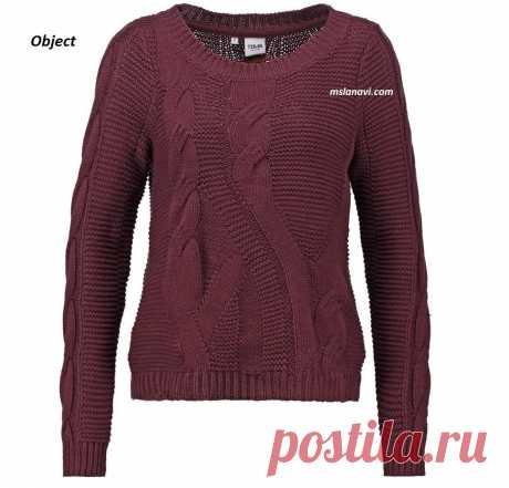 Вязаный пуловер спицами от Object | Вяжем с Лана Ви