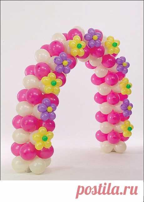 праздничная арка из гелевых шаров