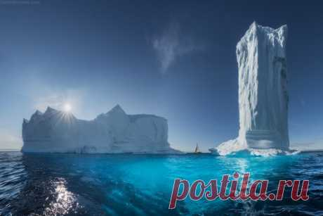 Skyscrapers of Greenland. The author of a photo is Daniil Korzhonov