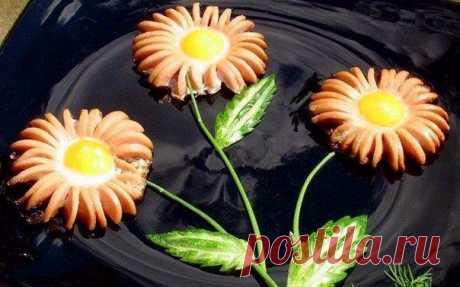 Жареные сосиски «Ромашки». | Школа вкуса — Школа вкуса