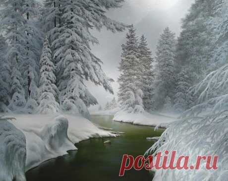 Winter landscapes of Evgeny Karlovic