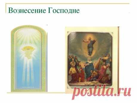 """Презентация """"Иконы «Воскресение Христово», «Вознесение Господне», «Сошествие Святого Духа»"""" - скачать презентации по МХК"""