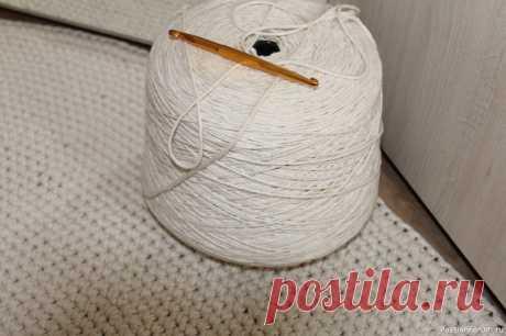Пряжа хлопок 100% для вязания и макраме 2 мм | Куплю-продам