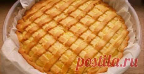 Песочный лимонный пирог. Выпечка, просто прелесть
