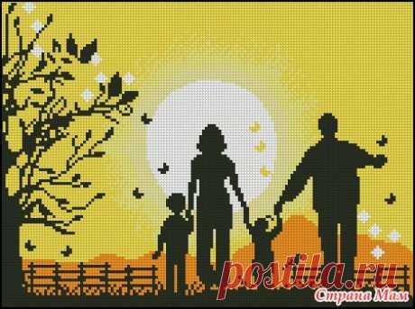 Делюсь схемами на тему семьи - Вышивка и все о ней - Страна Мам