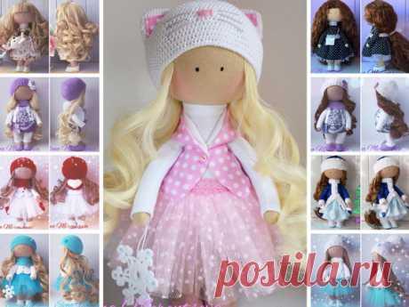 Handmade doll Christmas dollRag doll Tilda by AnnKirillartPlace