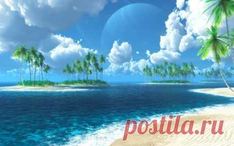 ....Пальмы, океан, песок, Остров — райский уголок. Отдыхает здесь душа, Жизнь течет тут не спеша.......Тенерифе