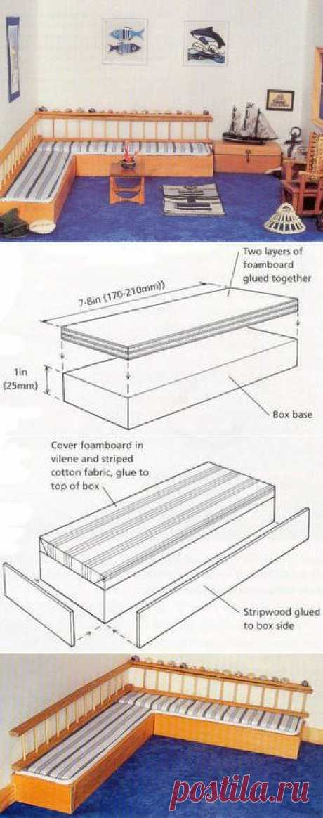 Угловой диван (в коттедже на берегу моря).