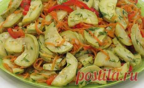 Кабачки! В салате они идеальны. Кабачковый салат который понравится всем!