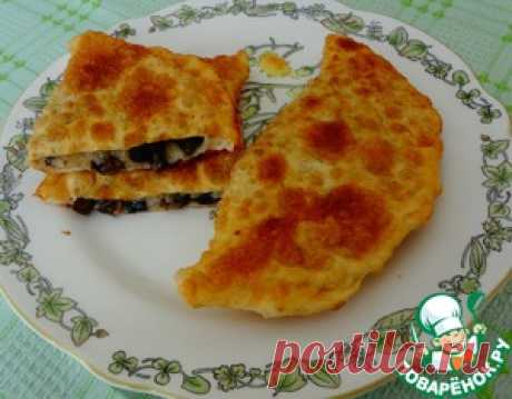 Fried rice and mushrooms pies - the culinary recipe