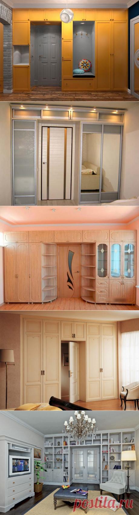 Шкаф вокруг двери, необычные и практичные идеи для интерьера