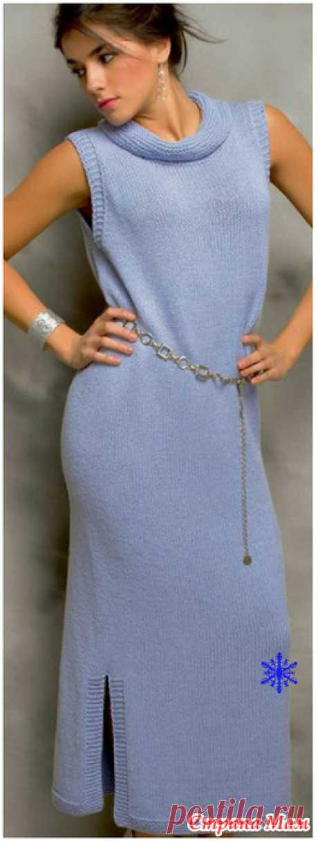 Голубое платье - Вязание - Страна Мам