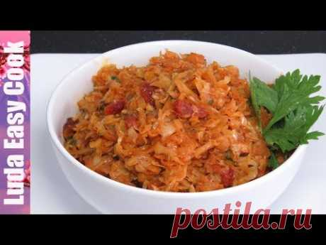 STEWED CABBAGE the TASTY Garnish or the Stuffing for Pies of Pies of Vareniki | FRIED CABBAGE