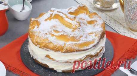 """В Польше научилась печь заварной торт """"Карпатка"""", невероятно вкусный и нежный"""
