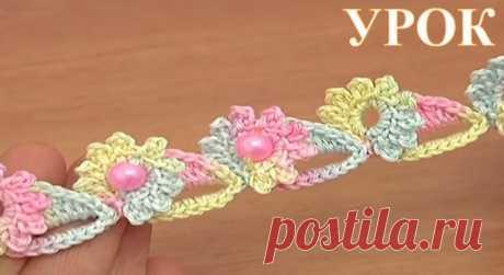 Румынское кружево - вязаный шнур цветочный + видео | razpetelka.ru