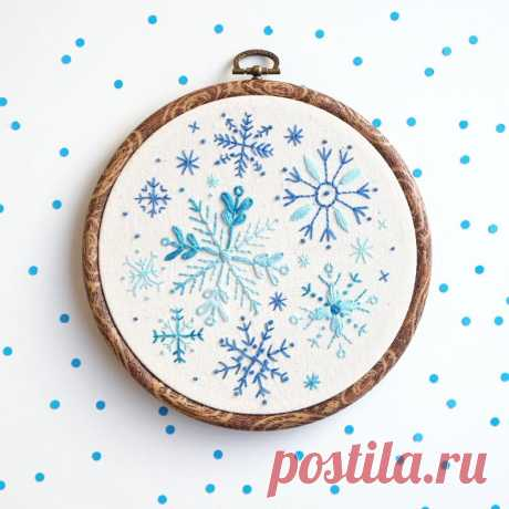 Вышиваем снежинки к новому году — DIYIdeas