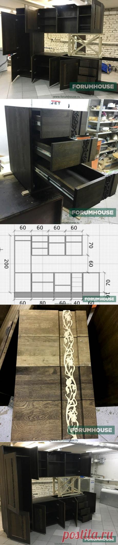 Кухня из массива древесины: своими руками