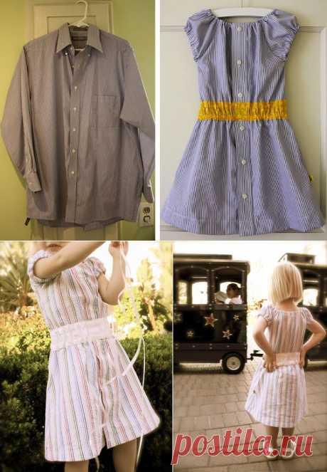 El vestido para la muchacha de la camisa de hombre - es hecho | Ladies venue