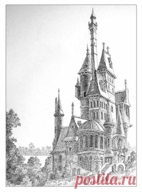 Рисунки замков для вашеговдохновения | Kleinburd News
