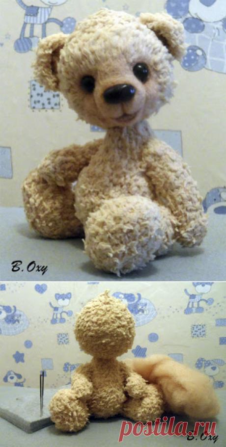 Оформление мордочки игрушки методом сухого валяния. МК