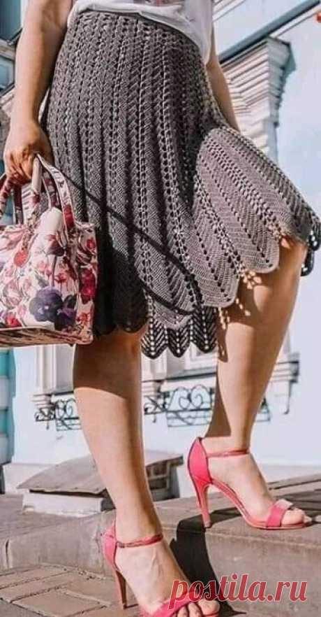 Простая юбка для любителей вязать крючком