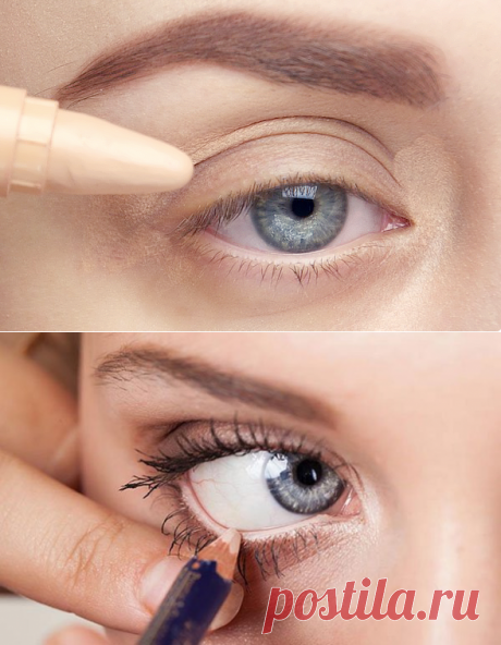 10 methods of application of a beige pencil for eyes: you will be delighted