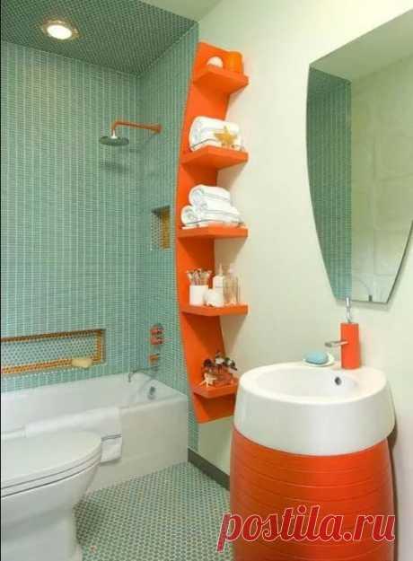 «Оригинальныйдизайн маленькой ванной комнаты» — карточка пользователя Николай С. в Яндекс.Коллекциях