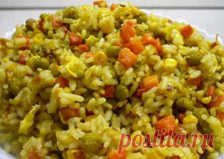Жареный рис с овощами Автор рецепта Нина Коровкина - Cookpad