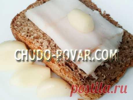 Как солить сало с чесноком - рецепт с фото   Чудо-Повар