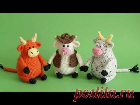 Вязаная игрушка бычок амигуруми - Амигуруми Видео