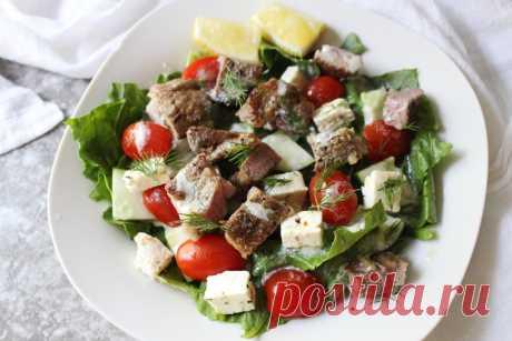 Кето салат с бараниной (БЖУ подсчитаны)