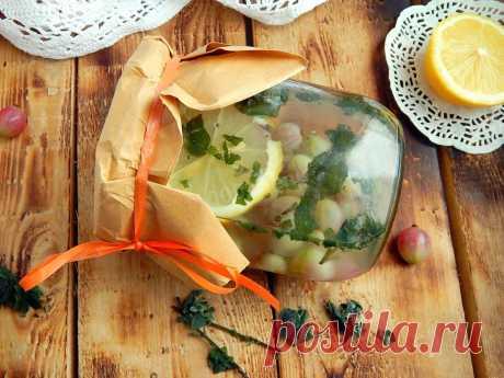 Компот из крыжовника мохито на зиму Вкусный, ароматный и освежающий компот из крыжовника!