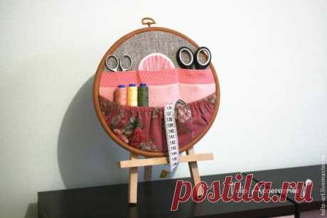 Органайзер для рукоделия в пяльцах — Сделай сам, идеи для творчества - DIY Ideas