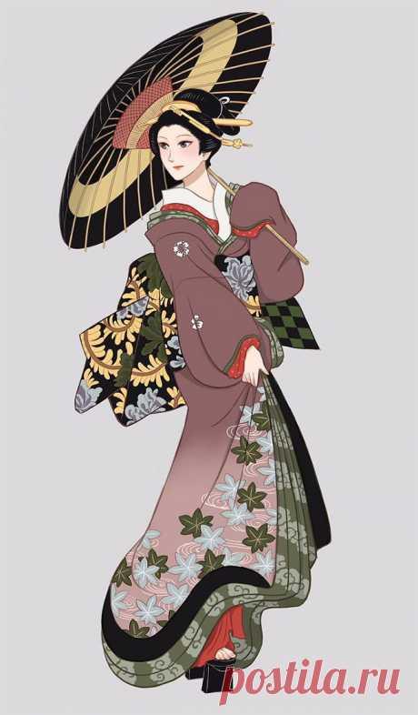 Иллюстратор Надэсико Рин и его иллюстрации восхитительных женщин