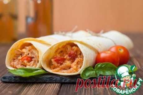 Буррито с курицей и рисом - кулинарный рецепт