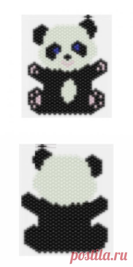 Peyote Panda Bear beading pattern Miyuki peyote pattern | Etsy