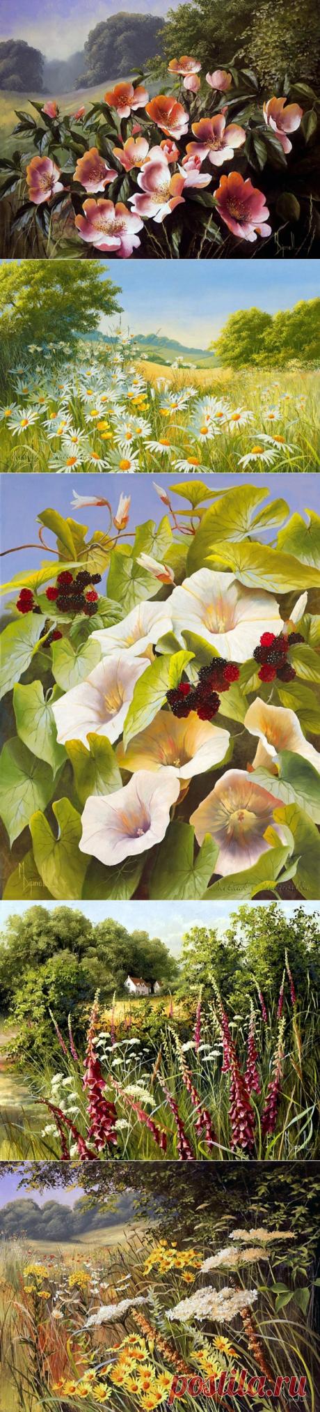 Цветы художницы Mary Dipnall (72 фото) » Картины, художники, фотографы на Nevsepic
